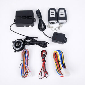 Universal Car Keyless Entry Engine Start Alarm System Push Button Remote Starte