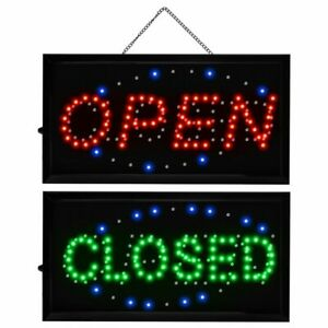 2 In 1 Open Closed Bright Led Motion Business Sign Display Neon Light 19 x10