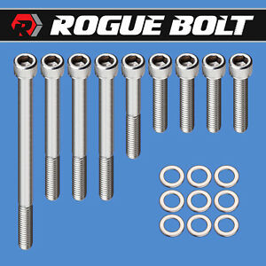Sbf Water Pump Bolts Passenger Inlet Stainless Kit Small Block Ford 289 302 351w