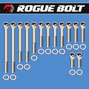 Sbf Water Pump Timing Cover Bolts Stainless Kit Small Block Ford 289 302 351w D