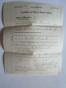 Model T Ford Touring Car 1916 Motor Barn Find Historical Documents