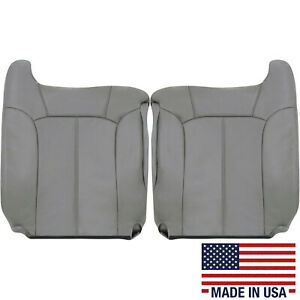 1999 2000 2001 2002 Chevy Silverado Leather Seat Covers Light Pewter Gray 922