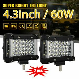 2pcs 90w 4 5inch Cree Led Spot Light Pods Driving 4wd For Car Truck Atv Suv Ute