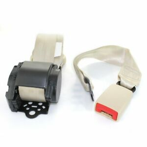 1piece 3 Point Harness Retractable Safety Belt Seatbelt Beige Universal For Ford