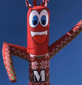 Christmas Sweater 20ft Sky Air Inflatable Tube Puppet Dancer For 18 blower