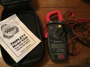Triplett Model 9320 True Rms Ac dc Clamp on Meter 119 dm