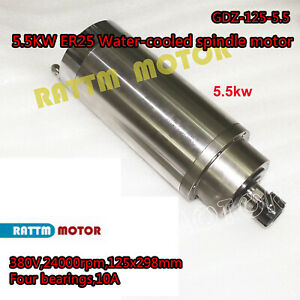 5 5kw 380v Water Cooling Spindle Motor Er25 24000rpm 400hz For Cnc Router Mill