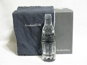 Steuben Glass Coca Cola / Coke Bottle - 125th Anniversary Limited Edition w Box