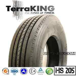 Terraking Hs205 285 75r24 5 16ply Steer front trailer all Position Truck Tires