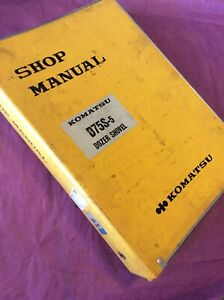 Komatsu D75s 5 Bulldozer Repair Service Manual Book Loader Crawler Guide Shop