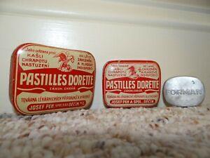 Antique Medical Tins 1930 S Set Of Two Pastilles Dorette Czech Plus Bonus Forman