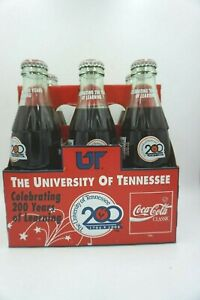 1994 University of Tennessee 200 Years Coke Coca-Cola 6 pack of Bottles