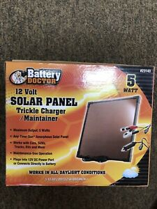 Battery Doctor 23143 Amorphous Solar Panel Trickle Charger Maintainer 5 Watt
