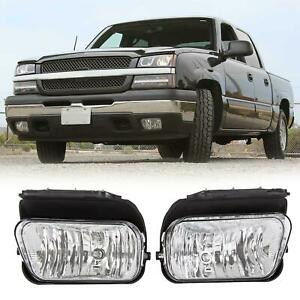 For 2003 2006 Chevy Silverado Avalanche Bumper Fog Lights Lamps Left Right 1500