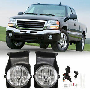 For 03 06 Gmc Sierra 1500 2500 3500 Pickup Bumper Fog Lights Lamps Left right