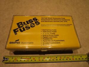 Buss Fuses Small Dimension Fuse Assortment Kit No 270 Complete Kit