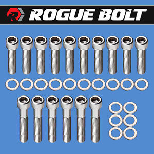 Bbf Intake Manifold Bolts Stainless Steel Kit Big Block Ford 429 460 F Series