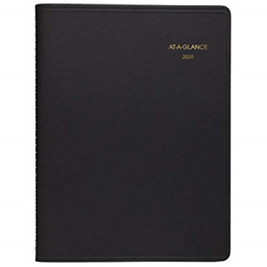 At a glance 2020 Weekly Planner Appointment Book 8 1 4 X 11 Large Black