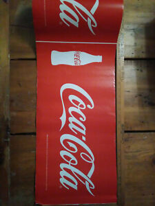 Roll of Coca Cola Coke Cardboard Insert Sign 2 X 1 Foot Retail Signage 2007 E2