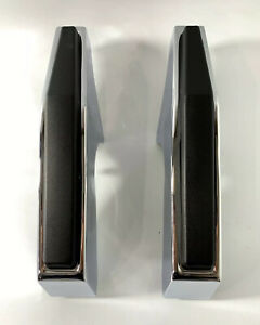 Pair Chrome Front Bumper Guards For 1981 1987 Chevy Gmc Pickup Truck