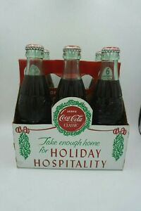 1988 Holiday Hospitality Coke Coca-Cola 6 pack of Bottles Vintage Rare