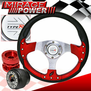 Red Hub Extender For 88 91 Crx Type r Pvc Red Fusion Style Steering Wheel