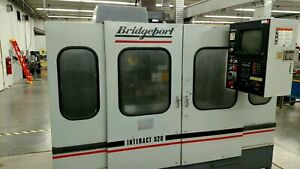 Bridgeport Interact 520 6k Rpm 480v 3ph Cnc Vertical Machining Center W bt Taper