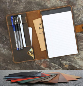 Writing Pads Collectibles Pen Holder Cow Leather Note Case Bag Customize B002