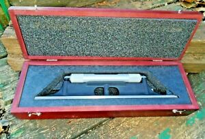 Starrett 98 12 Inch Machinist s Level With Wood Case