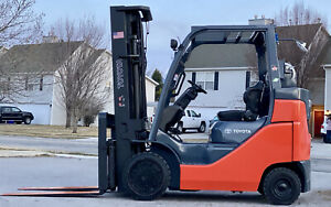 Toyota 8fgcu30 6 000lbs Lift Capacity Traction Tire Forklift Triple Side Shift