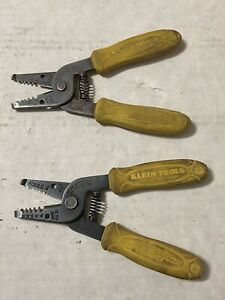 Vintage Klein Tools 11045 Wire Strippers Cutters 10 18 Awg Usa Yellow Handles 5