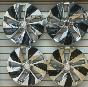 New 16 Hubcap Wheelcover For 2019 2020 Nissan Altima Chrome Black Set