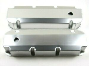 Bbf Ford 429 460 Fabricated Aluminum Valve Covers W Hole Clear Ano Bpe 2340ca