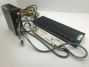 Parker Mx80l 200mm Precision Linear Servo Motor Actuated Stage W vix250ih Driver