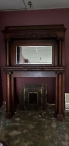 Antique Fireplace Mantle With Mirror Victorian Fireplace Surround
