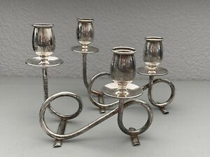 Revere Silversmiths Sterling Silver Candlebra Candle Holder Set Of 2 Heavy 373g