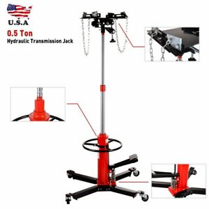 New 1100lbs Transmission Jack 2 Stage Hydraulic W 360 For Car Lift Auto Lift