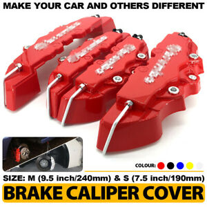 4pcs Set 3d Red Style Car Universal Disc Brake Caliper Covers Front