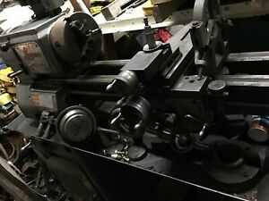 Logan 12 Swing Over Bed 24 Between Centers 3ph Engine Lathe W 3 jaw Chuck