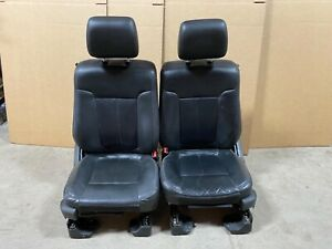 2011 Ford F 150 Lariat Leather Bucket Seats Black Power Heat And Cooled