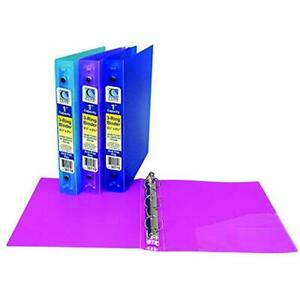 C line Products Binders Inc Cli30710bn Mini Size 3 ring Poly Binder Inch Pack