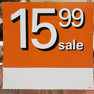 40 Retail Store Sale Sign Plastic 15 99 Sale Double Sided
