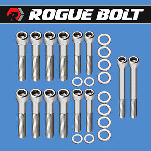 Ford 351c 351m 400m Intake Manifold Bolts 2v Heads Stainless Steel Kit Cleveland