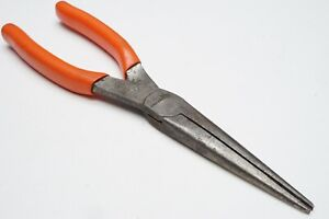 Snap On Tools Usa 9 Red Vinyl Grip Needle Nose Pliers 97acf