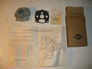 Briggs Stratton Gas Engine Upper Carburetor Body 99634 New Old Stock Vintage