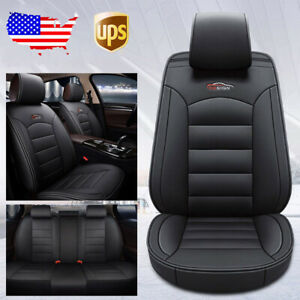 Us 7pcs Car Auto Leather Full Seat Covers Cushion For Toyota Camry Corolla Rav4