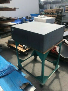 36 X 30 X 12 Grade A Granite Surface Plate With Stand
