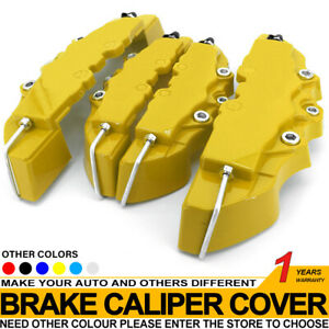 Disc Brake Caliper Abs Yellow 3d Style Front Rear Universal Car Truck Covers M S