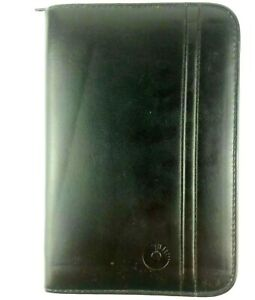 Rolodex Business Card Holder Black Faux Leather Holds 127 Cards With Notepad