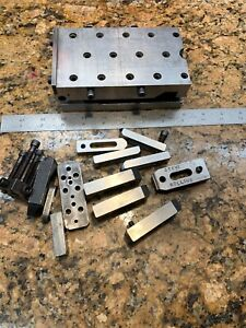 Super Precision 3 1 2x6 Precision Grinding 5 Sine Plate Hold Downs D472